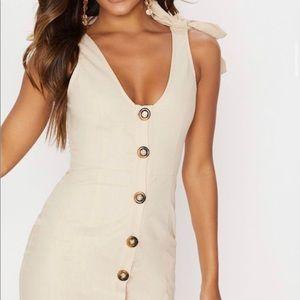 Tan Button Up Dress